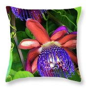Passion Flower Ver. 12 Throw Pillow