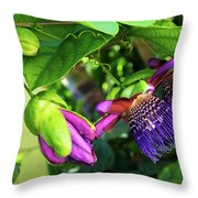 Passion Flower Ver. 14 Throw Pillow