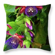 Passion Flower Ver. 16 Throw Pillow