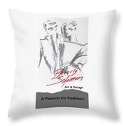 Passion For Fashion Throw Pillow