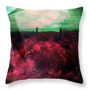 Passion In The Desert Throw Pillow by MB Dallocchio