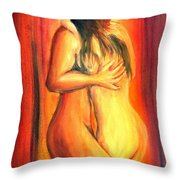 Passion Throw Pillow by Leonardo Ruggieri