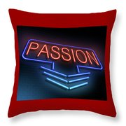 Passion Neon Concept. Throw Pillow