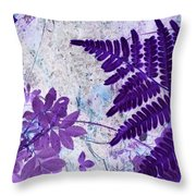 Passion Of Purple Throw Pillow