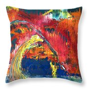 Passion Of The Summer Throw Pillow