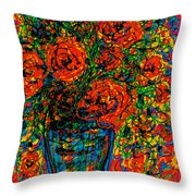 Passion Red Throw Pillow