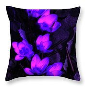 Passionate Blooms Throw Pillow