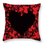 Passionate Love Heart Throw Pillow