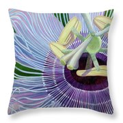 Passionflower Vine Throw Pillow