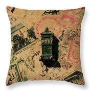 Past Letters In Post Throw Pillow