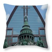 Past Present Future Throw Pillow