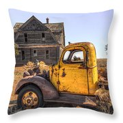 Past Time Throw Pillow