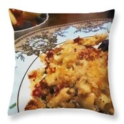 Pasta And Fruit Throw Pillow