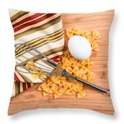 Pasta Egg And Whisk Throw Pillow