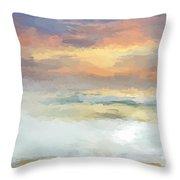 Pastel Beach Mornning Throw Pillow