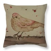 Pastel Bird Throw Pillow