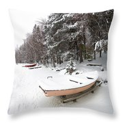 Pastel Boat Throw Pillow