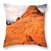 Pastel Checkerboad Landscape Throw Pillow