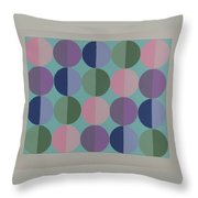 Pastel Cirles Throw Pillow