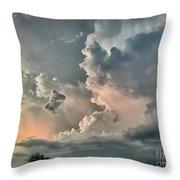 Pastel Clouds Throw Pillow