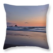 Pastel Coastline Throw Pillow
