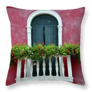Pastel Colors Of Burano  Throw Pillow