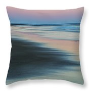 Pastel Dawn On Plum Island Sands Throw Pillow