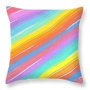Pastel Diagonals Throw Pillow