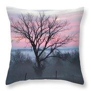 Pastel Fog Throw Pillow