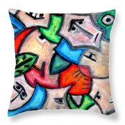 Pastel Heads By Rafi Talby Throw Pillow