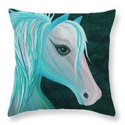 Pastel Horse Throw Pillow