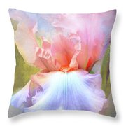 Pastel Iris Pleasure Throw Pillow