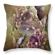Pastel Lace Throw Pillow