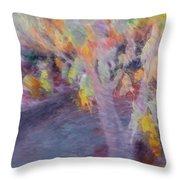 Pastel Leaves Throw Pillow