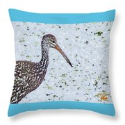 Pastel Limpkin Throw Pillow