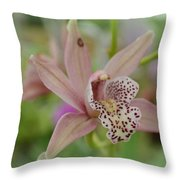 Pastel Orchid Throw Pillow
