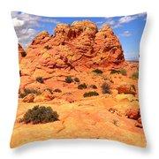 Pastel Petrified Sand Dunes Throw Pillow