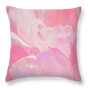 Pastel Pink Petals Throw Pillow