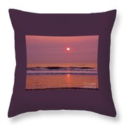 Pastel  Pink Sunrise Throw Pillow