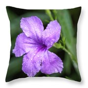 Pastel Purple With Raindrops Throw Pillow