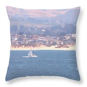 Pastel Sail Throw Pillow