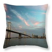 Pastel San Francisco Sunrise Throw Pillow