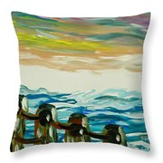 Pastel Sky And Sea Throw Pillow