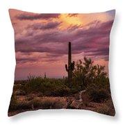 Pastel Sonoran Skies At Sunset  Throw Pillow