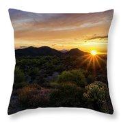 Pastel Sonoran Skies  Throw Pillow