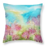Pastel Spring Throw Pillow