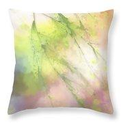 Pastel Spring Whispers Throw Pillow