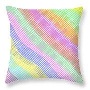Pastel Stripes Angled Throw Pillow