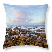 Pastel Tone Seaside Sunrise Throw Pillow