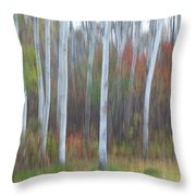 Pastel Tree Abstract Throw Pillow